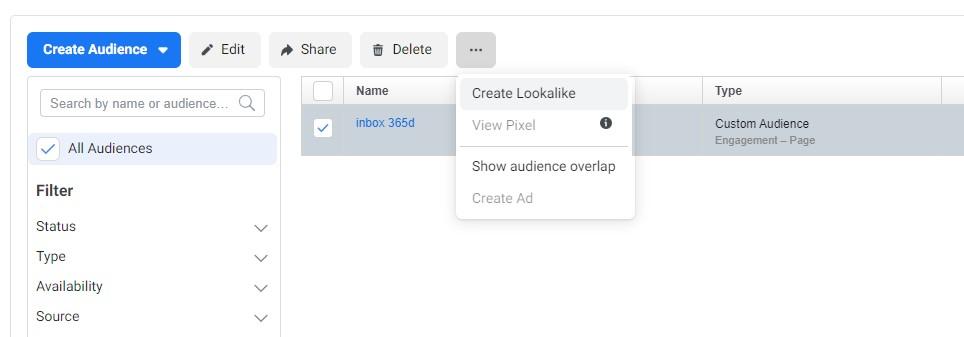 วิธีสร้าง Lookalike audience