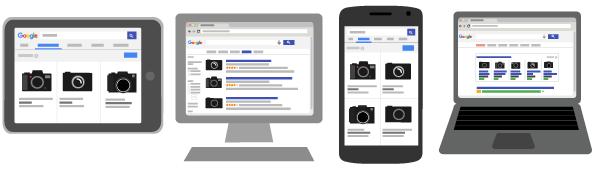 ตัวอย่างโฆษณา Google Shopping Ads