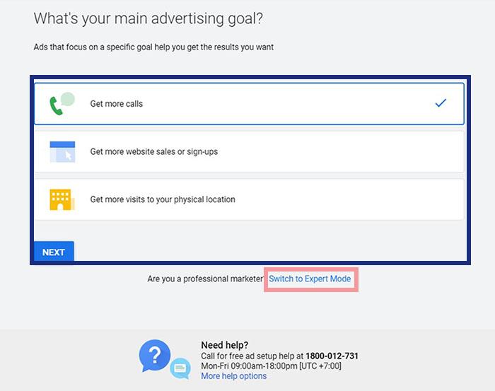 หน้าแรก Google Ads - Smart Campaign Setting