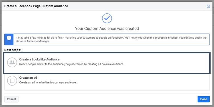 ขั้นตอนการสร้าง custom audience และ Lookalike audience