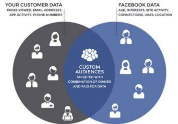 ภาพอธิบายส่วนประกอบ Custom audience