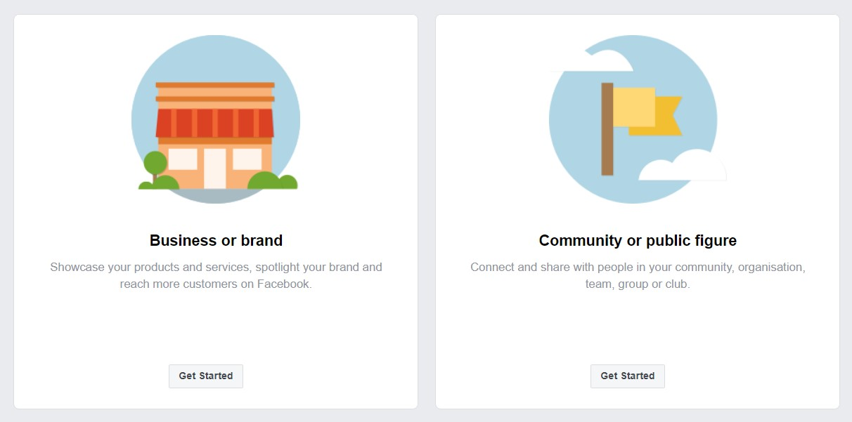 หลังจากเลือก Create page ระบบจะให้เราเลือกว่าเพจเราเป็น ธุรกิจ หรือเป็น พวกข่าว community ต่างๆ