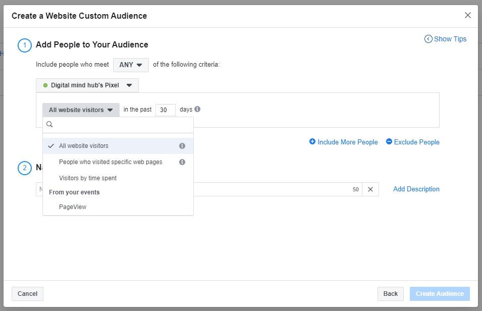 สร้าง Custom Audience จากคนเข้าเว็บไซต์