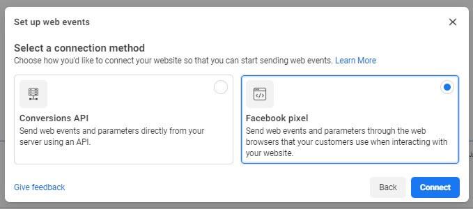 วิธีการติดตั้ง Facebook Pixel เลือกฝั่งขวา Facebook Pixel